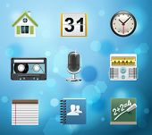 Typical mobile phone apps and services icons. EPS 10 version. Part 2 of 10