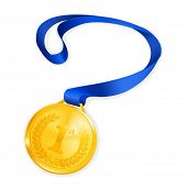 stock photo of gold medal  - Gold Medal - JPG