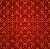 Red Seamless wallpaper pattern, vector