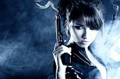 foto of girls guns  - beautiful sexy girl holding gun  - JPG