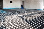stock photo of floor heating  - underfloor heating and cooling - JPG