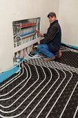picture of floor heating  - underfloor heating and cooling - JPG