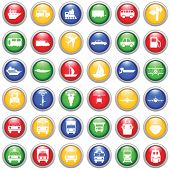 stock photo of traffic sign  - Transportation set of different web icons - JPG
