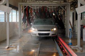stock photo of car wash  - Photographed car going through car wash in Georgia area - JPG