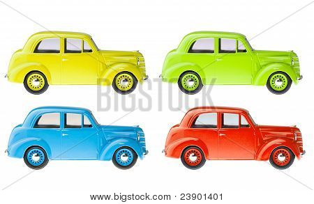 Set of retro cars