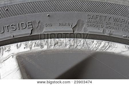 Damaged alloy