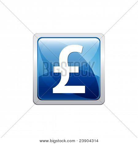 Botón azul GBP
