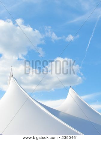 White Tents On Top Of The World