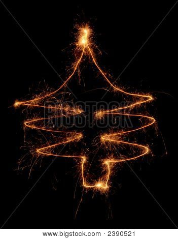 Sparklers Chistmas Tree