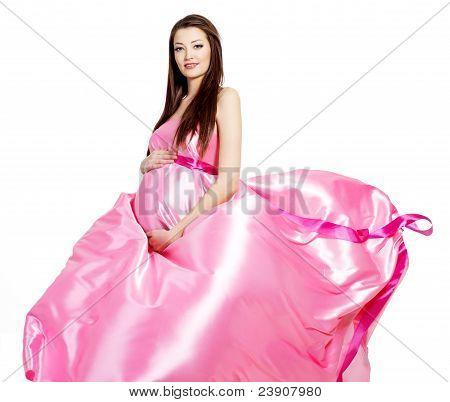 Glamour Ans stilvolle schöne schwangere