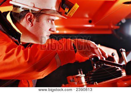 Porträt von einer Mine worker