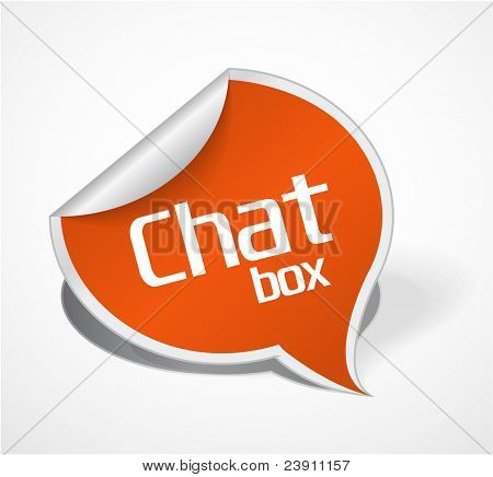 Orange Chat box