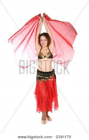 Bellydance With Hands Up