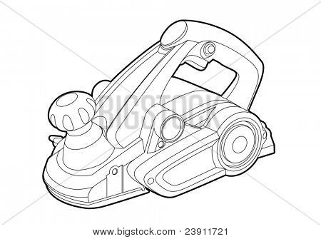 Vector electric tool on white background