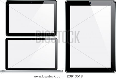 Vector Concepts of tablet and laptop.