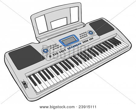 Electronic musical keyboard - synth. Bitmap copy my vector ID 69274654