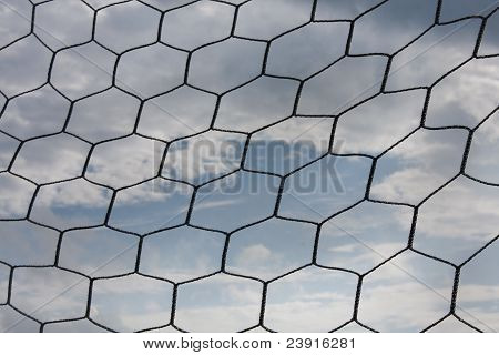 Mesh With The Sky Overcast.