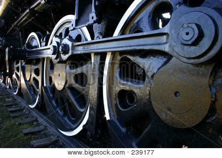 Big Old Locomotive Wheels