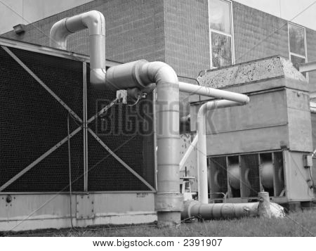 Exhaust Fan And Pipes