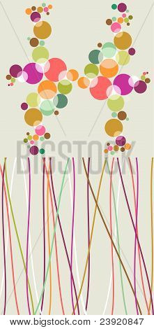Pop Colorful Bubbles And Lines Backgrounds.