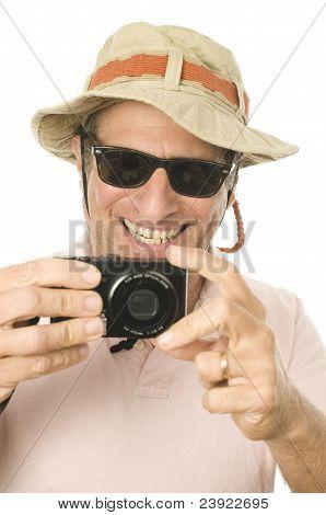 Middle Age Senior Tourist Male