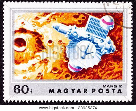 Stamp Soviet Space Craft Mars 2 Martian Crater