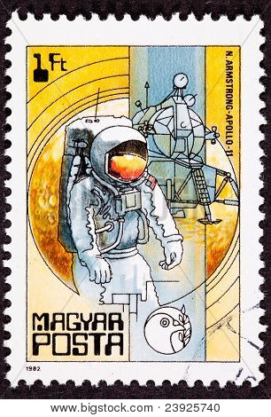 Postage Stamp Apollo 11 Moon Walk Space Suit