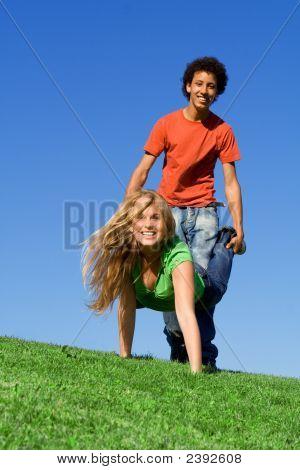 Fit Healthy Youth Fun, Wheelbarrow Race