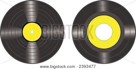 Vinyl Records Vector Lp And 45 Disc.Eps