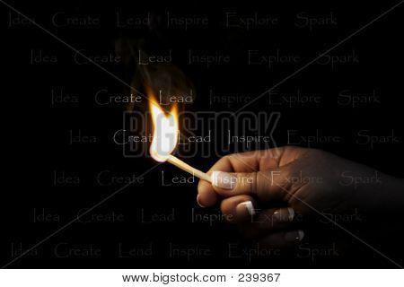 Inspirando llama