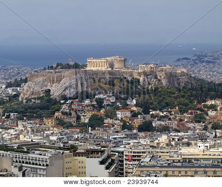 Parthenon On Acropolis Athens Greece