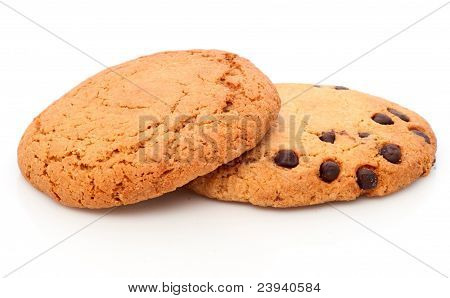 Two Oatmeal Cookies With