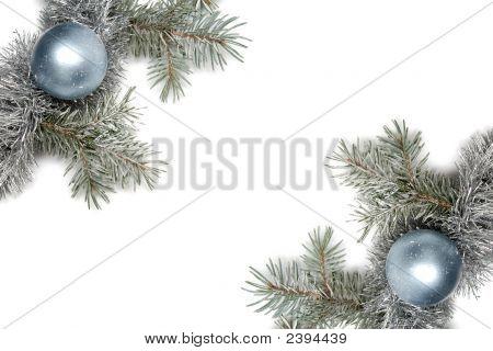 schneebedeckten Weihnachtsdekoration