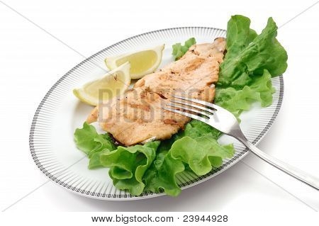 Dish With Grilled Trout