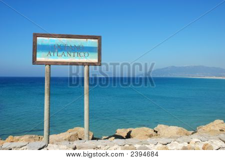 Sign For The Atlantic Ocean