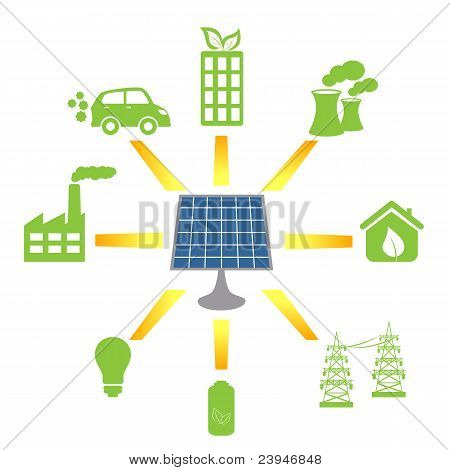Solar Panel Generating Alternative Energy