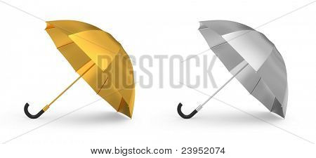 Gold and silver umbrella