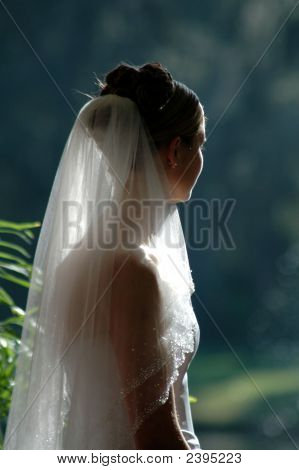Bride Looking Off_
