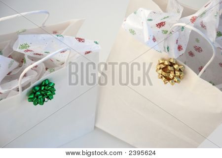 Two Holiday Gift Bags