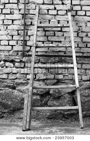 Stairway and brickwall