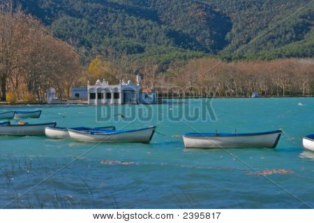 Rowing Boats On The Lake At Banyoles