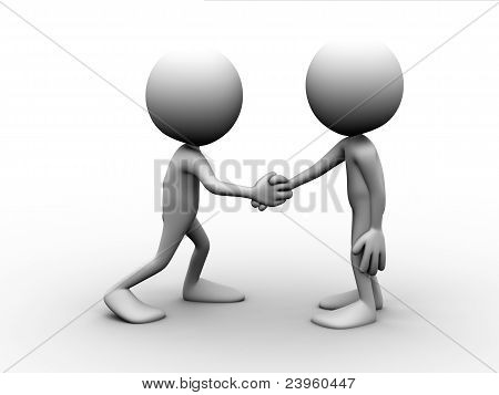 Two Men Handshake
