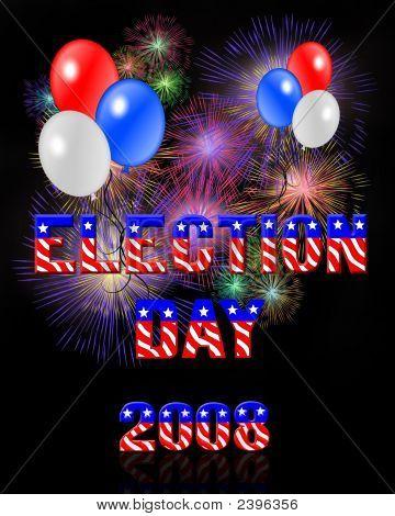 Wahltag digitale fireworks
