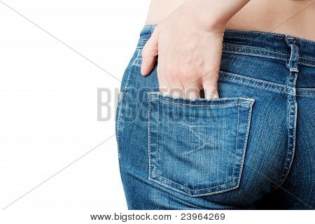 Womans Jeans Backside