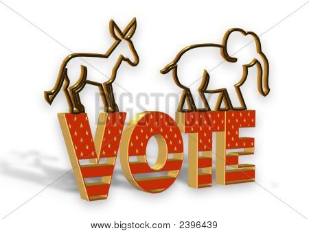 3D Vote Icon For Election Day