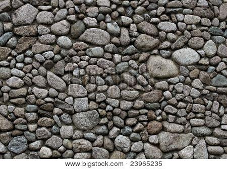 Round Stone Wall Background