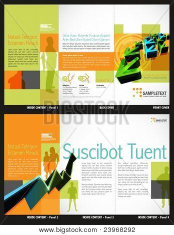 Tri-Fold Broschüre Layout-Design-Vorlage