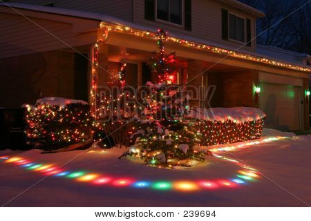 Christmas Lights On Homes