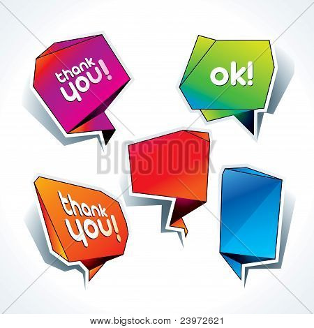 Set Of Colorful Speech Bubbles On The White Background. Vector Illustration.