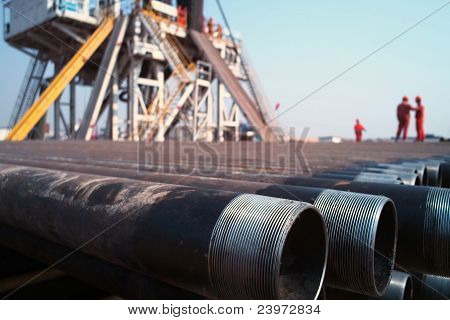 Drilling Rig And Worker